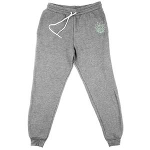 Rick and Morty Rick Embroidered Unisex Joggers - Grey