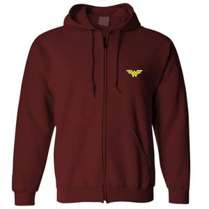 Felpa con zip DC Wonder Woman - - Bordeaux - Unisex
