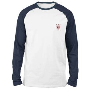Transformers Autobots Embroidered Unisex Long Sleeved Raglan T-Shirt - White/Navy