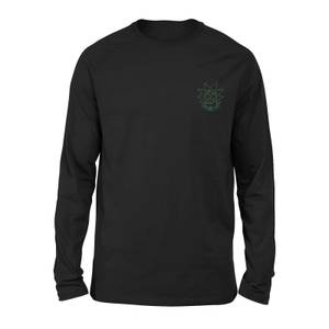 Rick and Morty Rick Embroidered Unisex Long Sleeved T-Shirt - Black