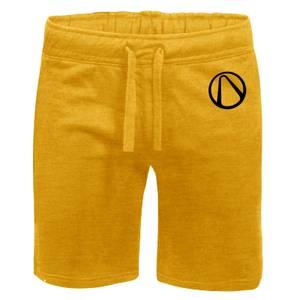 Borderlands Embroidered Unisex Jogger Shorts - Yellow
