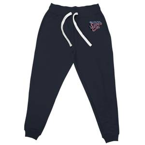 DC Super Girl Embroidered Unisex Joggers - Navy