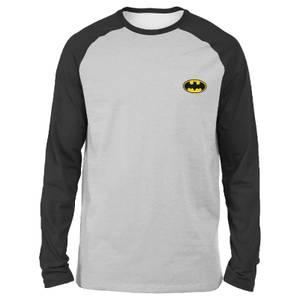 T-shirt à manches longues Raglan DC Batman - Gris/Noir - Unisexe