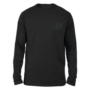 Rick and Morty Morty Embroidered Unisex Long Sleeved T-Shirt - Black