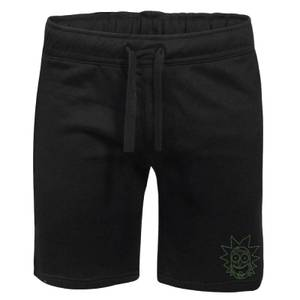 Rick and Morty Rick Embroidered Unisex Jogger Shorts - Black