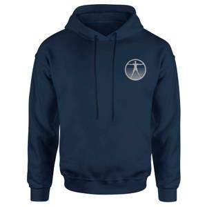 Westworld Logo Embroidered Unisex Hoodie - Navy