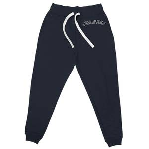 Looney Tunes That's All Folks Embroidered Unisex Joggers - Navy