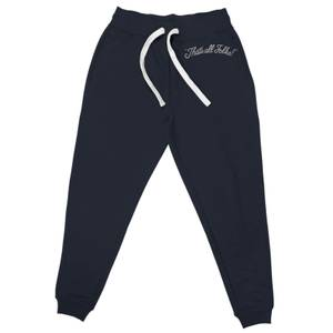 Joggers Looney Tunes That's All Folks con Ricamo - Blu Navy - Unisex