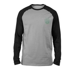 Rick and Morty Rick Embroidered Unisex Long Sleeved Raglan T-Shirt - Grey/Black