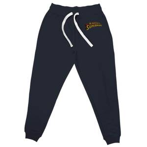 DC Superman Embroidered Unisex Joggers - Navy