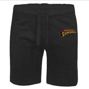 DC Superman Embroidered Unisex Jogger Shorts - Black