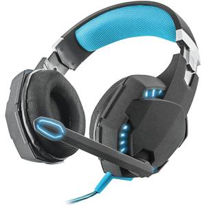 Trust Gaming GXT 363 Bass Vibration Illuminated 7.1 Gaming Headset for PC and Laptop - Black/Blue