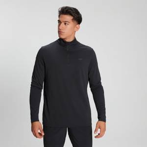 Męska bluza z suwakiem ¼ z kolekcji  Velocity MP – czarna