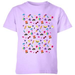The Powerpuff Girls Pattern Kids' T-Shirt - Lilac