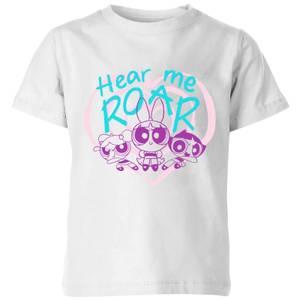 The Powerpuff Girls Hear Me Roar Kids' T-Shirt - White