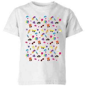 The Powerpuff Girls Pattern Kids' T-Shirt - White