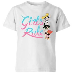 The Powerpuff Girls Girls Rule Kids' T-Shirt - White