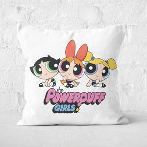 The Powerpuff Girls Pink Heart Square Cushion