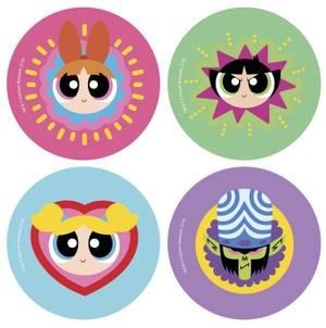The Powerpuff Girls Colourful Round Coaster Set