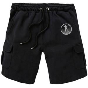 Westworld Logo Embroidered Unisex Cargo Shorts - Black