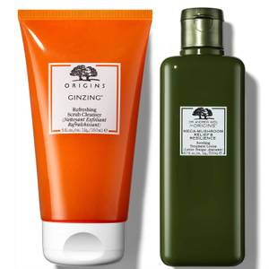 Origins Ginzing Scrub Cleanser and Treatment Lotion Bundle