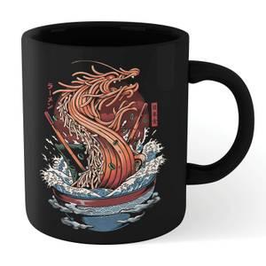 Ilustrata Dragon Ramen Mug - Black