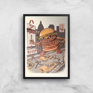 Ilustrata Burgerzilla Giclee Art Print