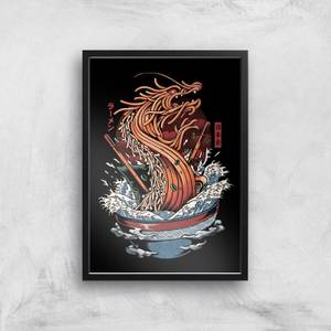 Ilustrata Dragon Ramen Giclee Art Print
