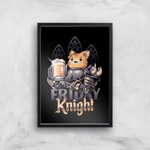 Ilustrata Friday Knight Giclee Art Print