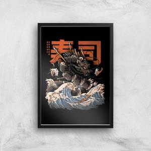 Ilustrata Sushi Dragon Giclee Art Print