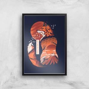 Ilustrata Japanese Fox Giclee Art Print