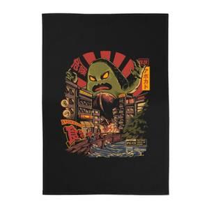 Ilustrata Avokiller Cotton Tea Towel - Black