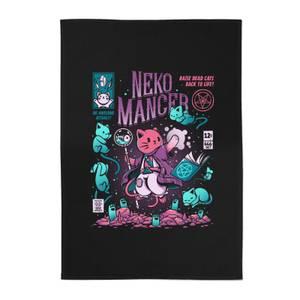 Ilustrata Nekomancer Cotton Tea Towel - Black