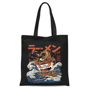 Ilustrata Black Great Ramen Tote Bag - Black