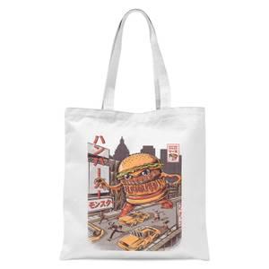 Ilustrata Burgerzilla Tote Bag - White