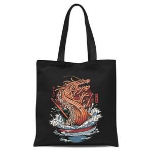 Ilustrata Dragon Ramen Tote Bag - Black