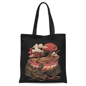 Ilustrata Dragon's Ramen Tote Bag - Black