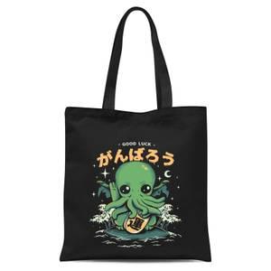 Ilustrata Good Luck Cthulhu Tote Bag - Black