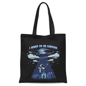 Ilustrata I Want to Be Leaving Tote Bag - Black