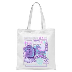 Ilustrata Japan Wave Tote Bag - White