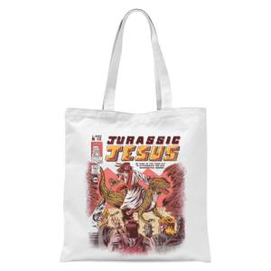 Ilustrata Jurassic Jesus Tote Bag - White