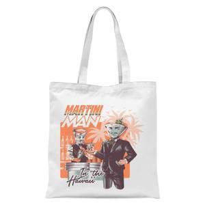 Ilustrata Martini Man Tote Bag - White