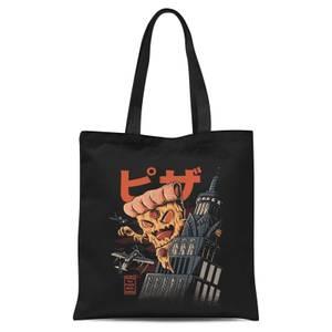 Ilustrata Pizza Kong Tote Bag - Black