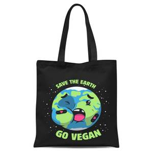 Ilustrata Save The Earth Tote Bag - Black