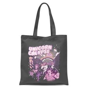 Ilustrata Unicorn Calypse Tote Bag - Grey