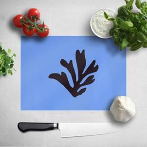 Black Leaf Chopping Board