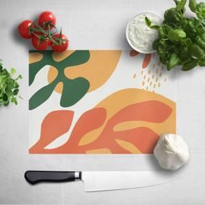 Mid Warm Leaf Pattern Chopping Board