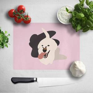 Dog With Butterfly Nose Chopping Board