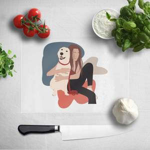 Dog Cuddles Chopping Board