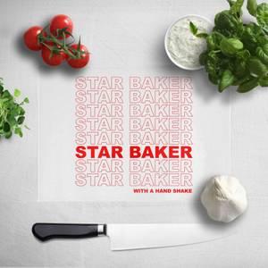 Star Baker With A Hand Shake Chopping Board